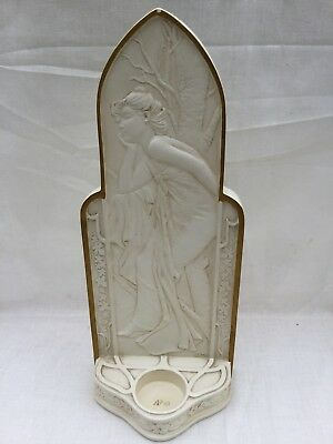Art Nouveau Style Tea Light Holder/ Stand . Lady/ Maiden Form.