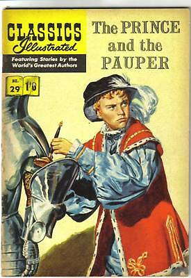 Classics Illustrated #29 PRINCE & The PAUPER Mark Twain..scarce UK issue ..1960!