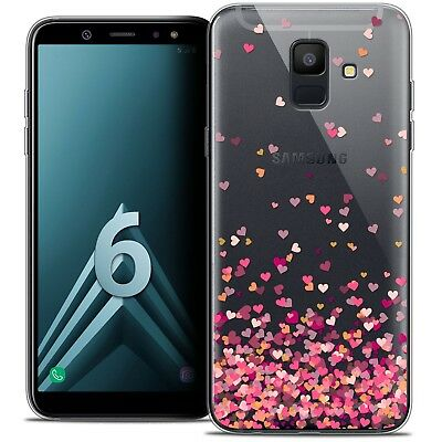 """Coque Crystal Gel Pour Samsung Galaxy A6 2018 (5.45"""") Souple Sweetie Heart Flake"""