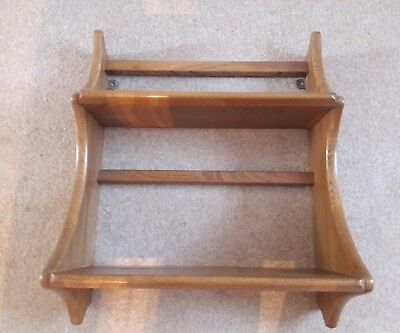 Ercol small plate rack in elm from the Windsor range