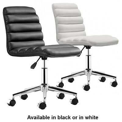 Admire Office Chair Zuo Modern Chair Armless Conference Chair BLACK WHITE  sc 1 st  PicClick & ADMIRE OFFICE CHAIR Zuo Modern Chair Armless Conference Chair BLACK ...