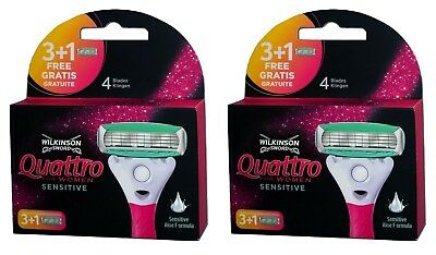 Wilkinson Sword Quattro for Women Sensitive 8 Rasierklingen