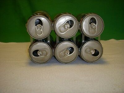 Vintage ORIGINAL 1990 PEPSI COLA  6 pack CANS Empty Soda  NEON DESIGN Spells SEX