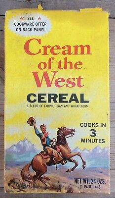 Vintage Cream Of The West Cereal Box Billings Montana