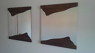 Edge Wood Frame mirror set of 2