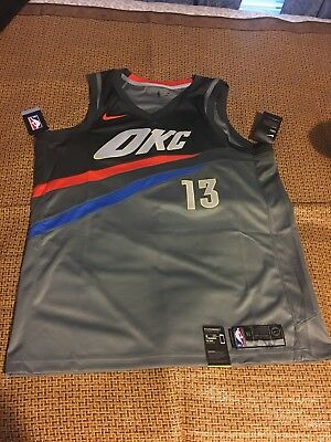 fedc9c517fe Nike Paul George Oklahoma City Thunder City Edition Swingman Jersey Size XL  52