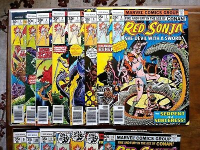 Red Sonja #1-15 complete Vol 1 1977 in VF/NM*