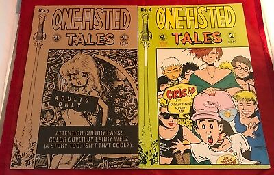One-Fisted Tales Lot Of 2 #'s 3 & 4 VF Slave Labor Graphics 1991