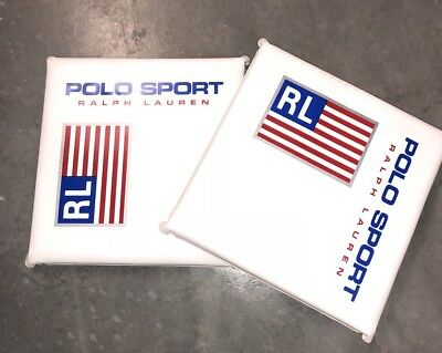 Vtg Polo Ralph Lauren P Wing Stadium Seat Cushion Flag Usa Polo Sport