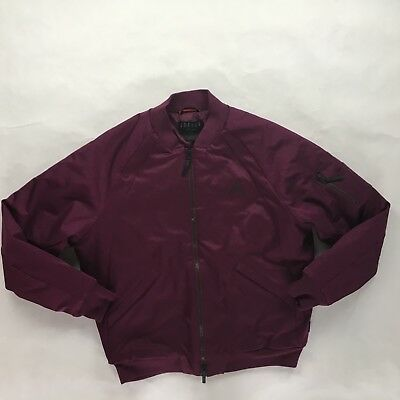 554e2a9dd1bea8 Nike Air Jordan Wings MA-1 Bomber Jacket Bordeaux Black 879493-609 Men s  Large