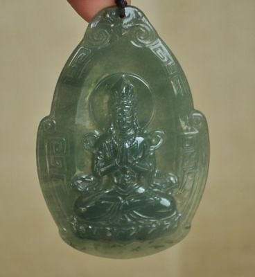 Certified 100% Natural A Jade jadeite pendant~Guanyin(观音)  M1812