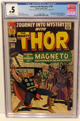 Journey Into Mystery #109 Magneto & Evil Mutants 10/64 Off-White Pages Cgc .5