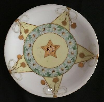 Antique Limoges France Hand Painted 9 1/4 inch Plate Signed and dated 1909