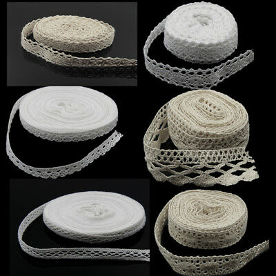 HOT 5/10Yd Vintage Cotton Crochet Lace Trim Wedding Bridal Ribbon Sewing Crafts