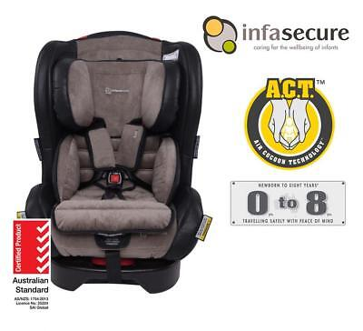 New Infasecure Luxi Vogue Convertible Kid Infant Baby Car Seat 0-8 years Onyx