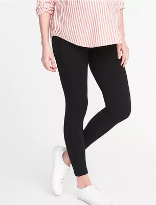Old Navy Black Maternity Front Low-Panel Leggings--NWOT--Small/S