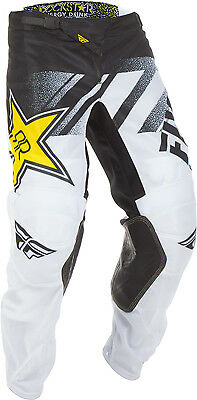 Fly Racing 2018.5 MX Motocross Riding Kinetic Mesh Rockstar Pants 32 White