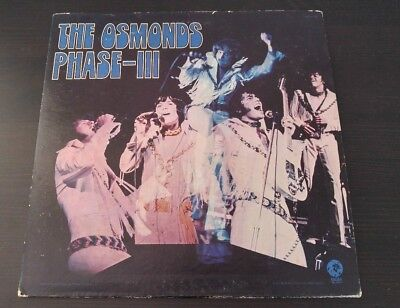 "THE OSMONDS Phase-III 33 RPM 12"" LP VG/VG+ MGM 1971 ISE-4769"