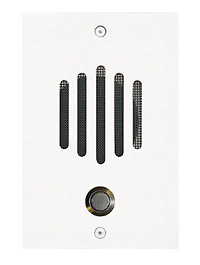 """DP-0212PWhite finish ¼"""" solid brass door plate with black metal scre"""