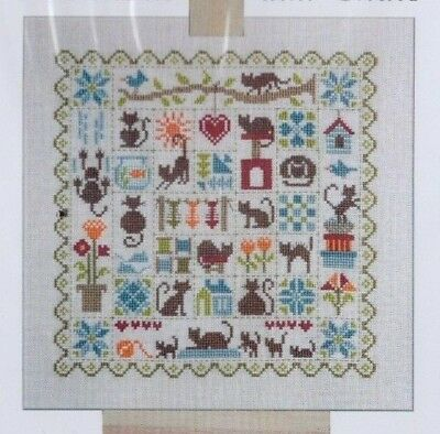 Patchwork aux Chats - cats cross stitch chart - Jardin Prive