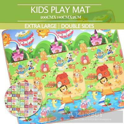 3x1.8m EF Large Baby Toddler Floor Rug Play Mat Animal Alphabet 20mm Thick XL