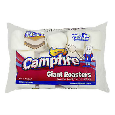 1 x CAMPFIRE GIANT ROASTERS MARSHMALLOWS GIANT SMORES CAMPING 340g JUMBO LARGE