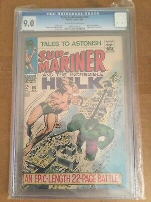 Tales to Astonish # 100 Hulk & Sub-Mariner Classic CGC 9.0