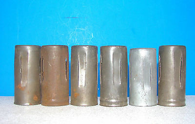 lot 6 radio vacuum tubes miniature heat shields covers 7 pin 6BA6 6HS6 6HR6 6CB6