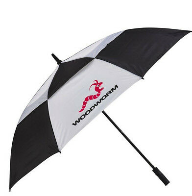 Black & White Double Canopy Vented Windproof Sun Shade / Golf Umbrella