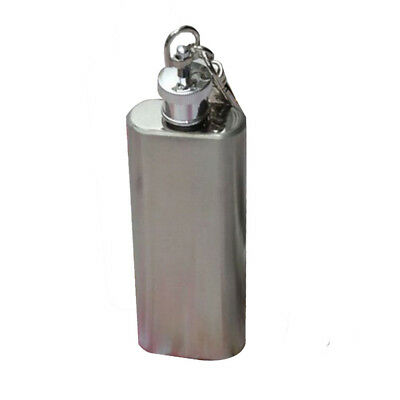 1pc 2oz Mini Stainless Steel Hip Flask Alcohol Flagon with Keychain