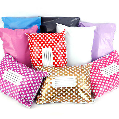 Polka Dot Printed Post Plastic Mailing Bags Strong Self Seal all Sizes Coloured