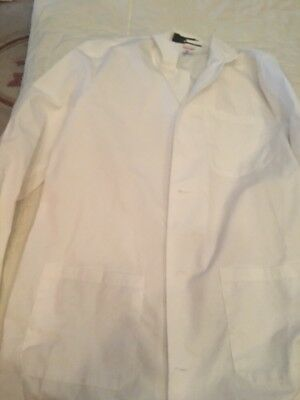 Size 40 Fashion Seal Long White Scrub Lab Coat