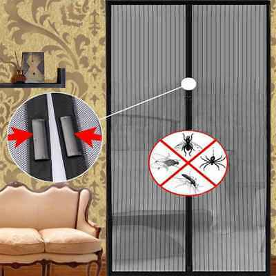 Magnetic Net Mesh Screen Anti Insect Fly Bug Mosquito Door Curtain Automatic