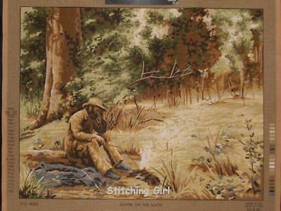 Down On His Luck Tapestry To Stitch By Country Threads