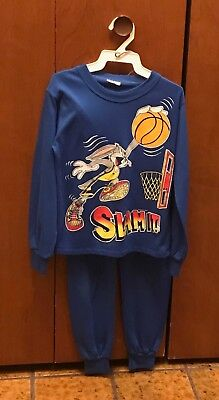 Blue Size 10 PJ's Warner Bros. Long Sleeve & Long Leg 1993 Bugs Bunny Polyester