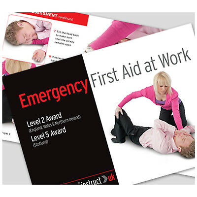 Click Medical 49 Page Emergency First Aid at Work Guidance Manual Training Book