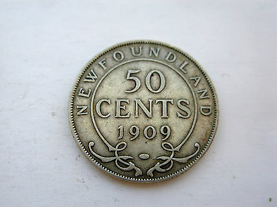 1909 Newfoundland Silver Fifty Cent