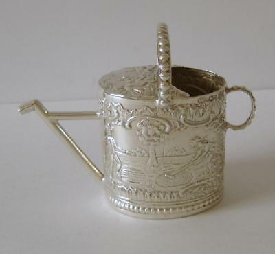 A Fine Quality Antique Dutch Sterling Silver Miniature Watering Can Circa 1894