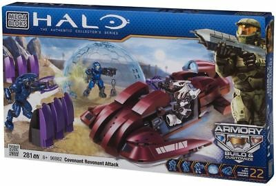 Halo Mega Bloks Covenant Revenant Attack Set 281 Pieces Playset