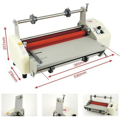 "4 Rollers 13"" (330mm) A3 Laminator Four Rollers Hot Roll Laminating Machine"