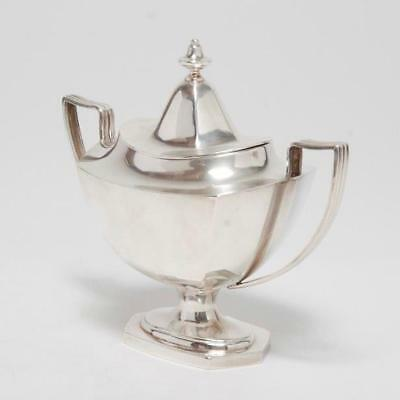 Vintage Sterling Silver Lidded Sugar Bowl By Watson Silver Co.