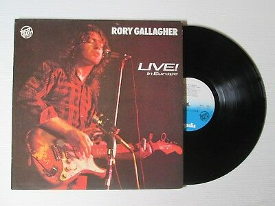 RORY GALLAGHER Live! In Europe LP ITALY BEST BUY ELECTRIC BLUES NO CD