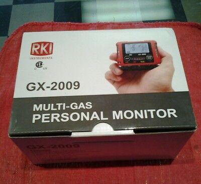 RKI GX-2009 multi-gas Monitor detector with charger,