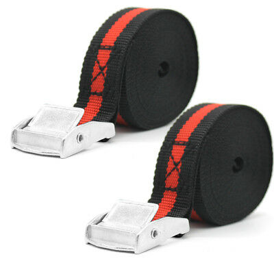 2x Tensioning Belts Lashing Trailer Tie Down Straps for Cam Buckles Car Trailer