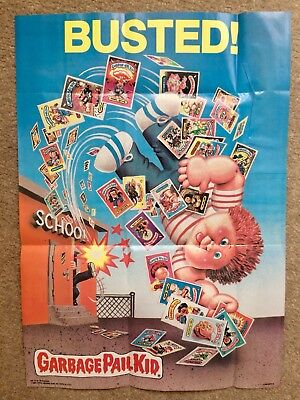 1986 Garbage Pail Kids Poster ~Busted! #18 ~Vintage ~ Topps ~ Pack Fresh