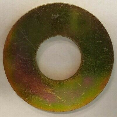 "1/2"" USS Flat Washers Thru-Hardened Yellow Zinc"