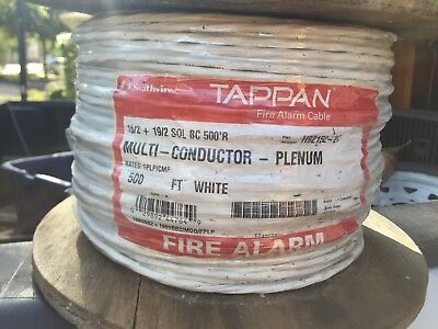 Southwire/Tappan 16/2 +19/2 SOL BC 500'R  Plenum Fire Alarm Cable WHITE 500ft