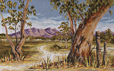 Outback Gum Tapestry To Stitch~Country Threads Design