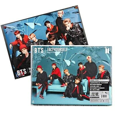 BTS Face yourself Taiwan CD BOX 68P Photobook Promo Poster 2018 NEW