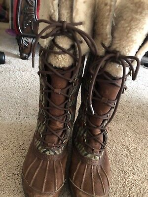 0bd5cb691e7 UGG TALL SNOW Boots Lace Up and zip Up the sides cold weather boots